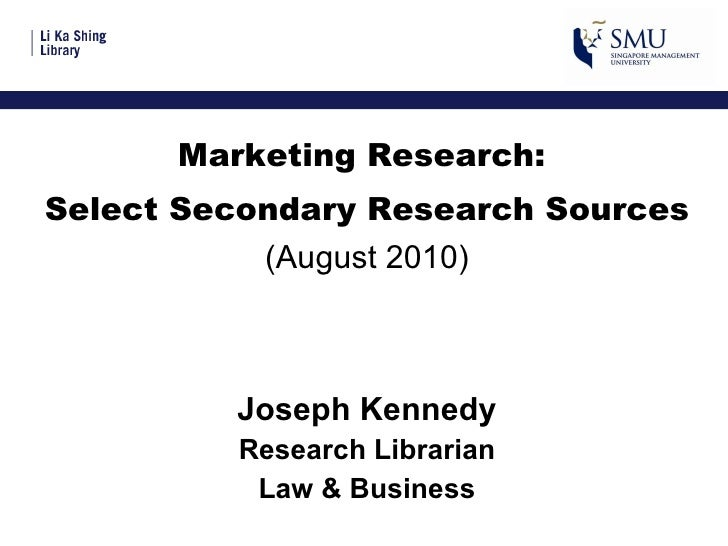 MKTG103 Marketing Research Aug 2010