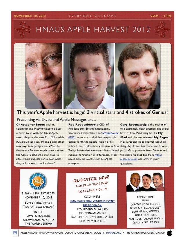 HMAUS Apple Harvest 2012