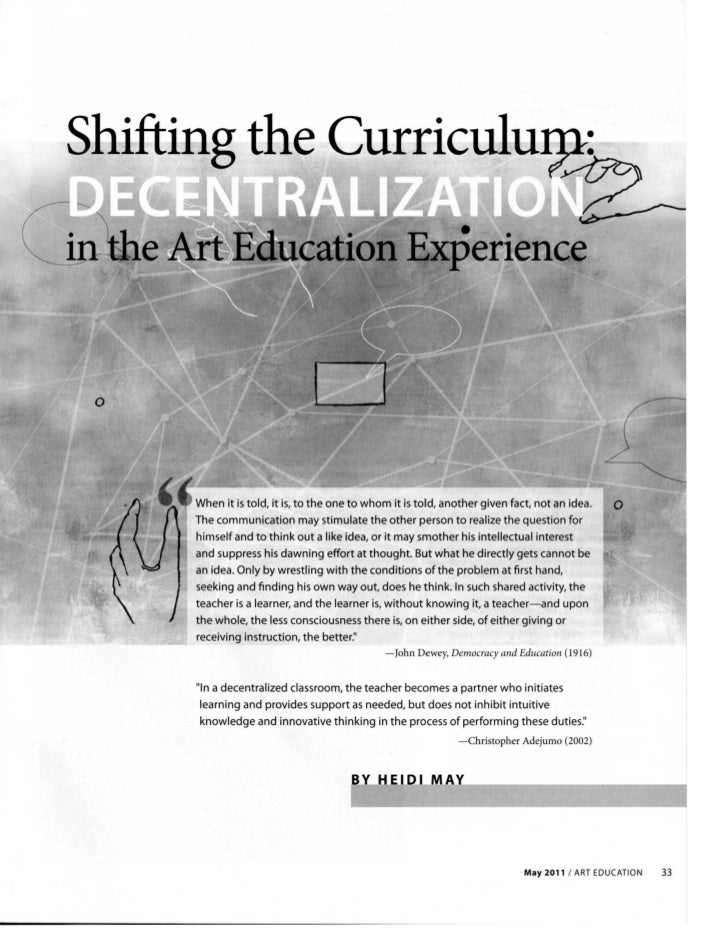 Shifting the Curriculu2:           .          ~ o     When it is told, it is, to the one to whom it is told, another given...