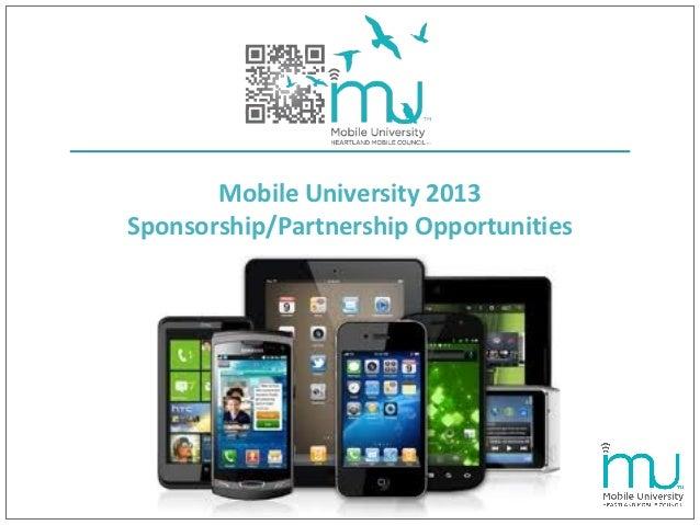 Mobile University 2013Sponsorship/Partnership Opportunities