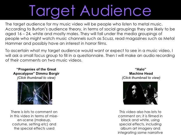 Target audience presentation