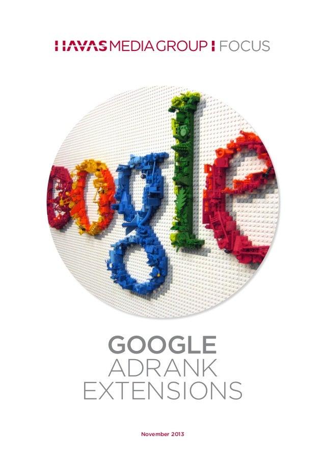 Havas Media Group Focus :: Google AdRank Extensions