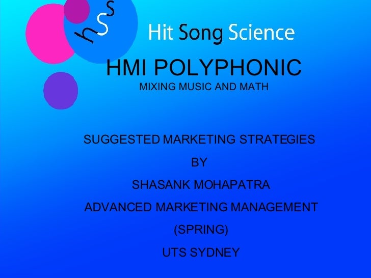 HMI Polyphonic HIT SONG SCIENCE Recommendations
