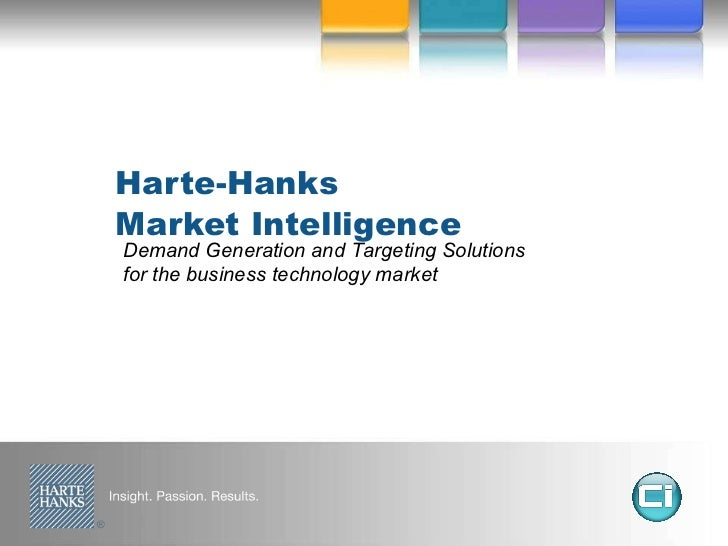 Harte-Hanks Market Intelligence Demand Generation and Targeting Solutions for the business technology market