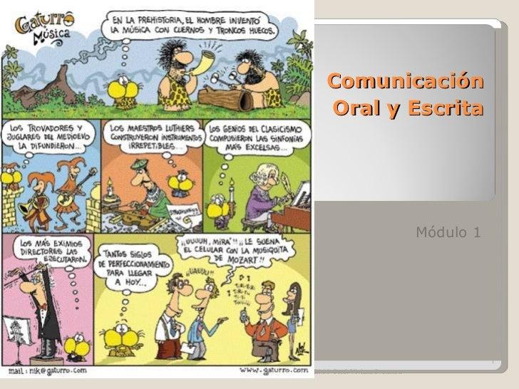 Comunicación   Oral y Escrita Módulo 1 CEM 8  Prof. Viviana Svensson