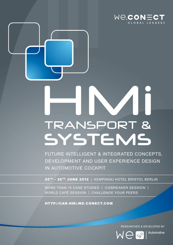 HMI Transport & Systems 2012 Agenda