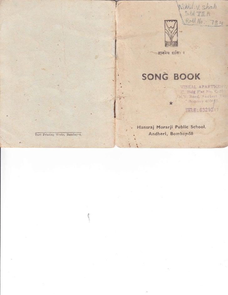 HMPS Prayer / Song Book