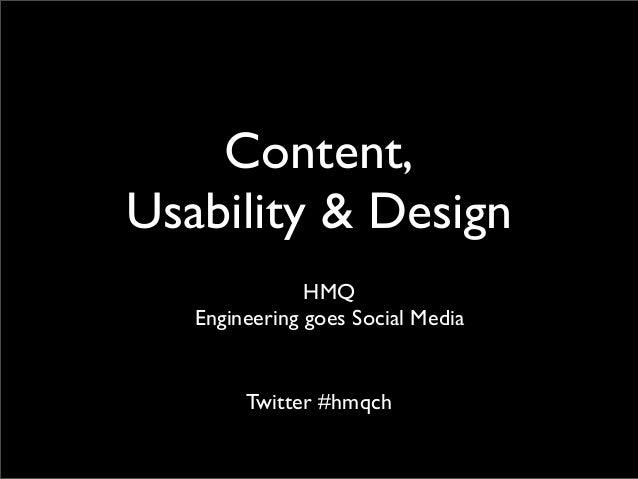 HMQ AG: Content, Usability & Design
