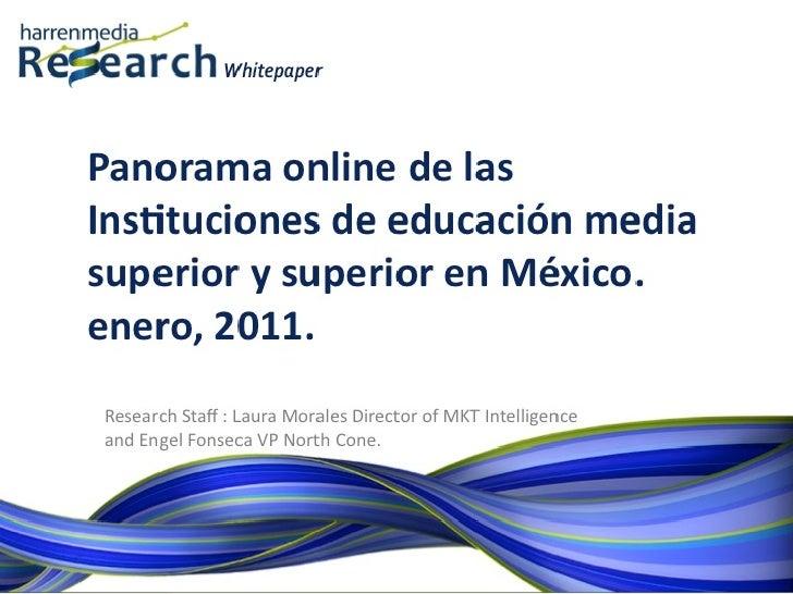 Harrenmedia Research White Paper Panorama Universidades en México