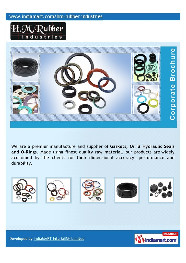We are a premier manufacture and supplier of Gaskets, Oil & Hydraulic Sealsand O-Rings. Made using finest quality raw mate...