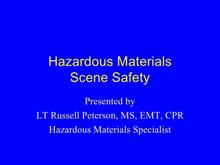 Hm Scene Safety