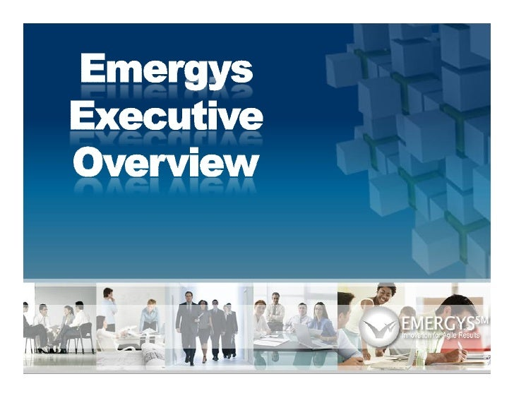About Emergys  Emergys is an industry leading Business Transformation Service Provider that offers pre-packaged, industry ...