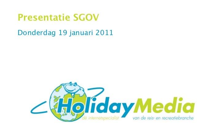 Presentatie SGOVDonderdag 19 januari 2011