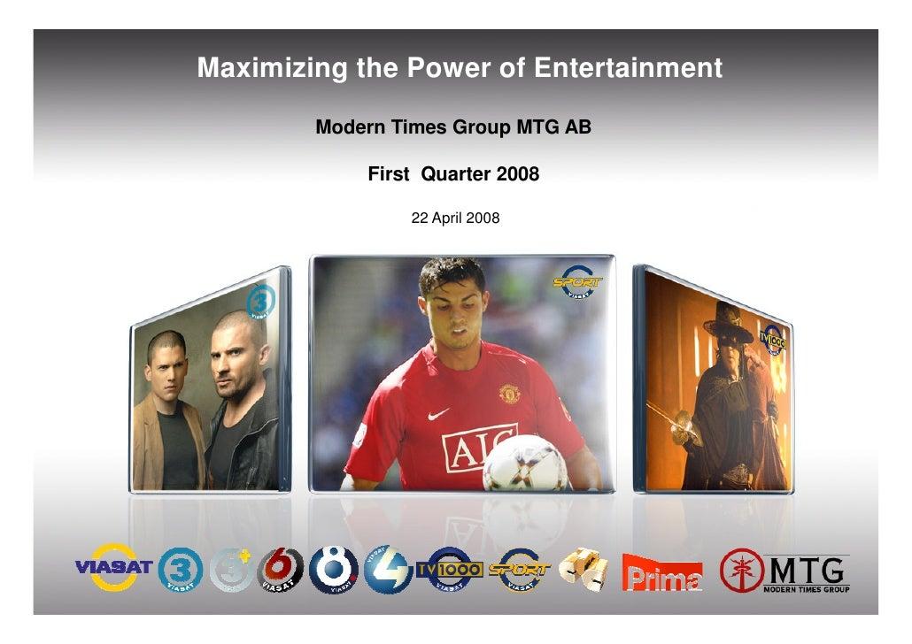 Q1 2008 Presentation