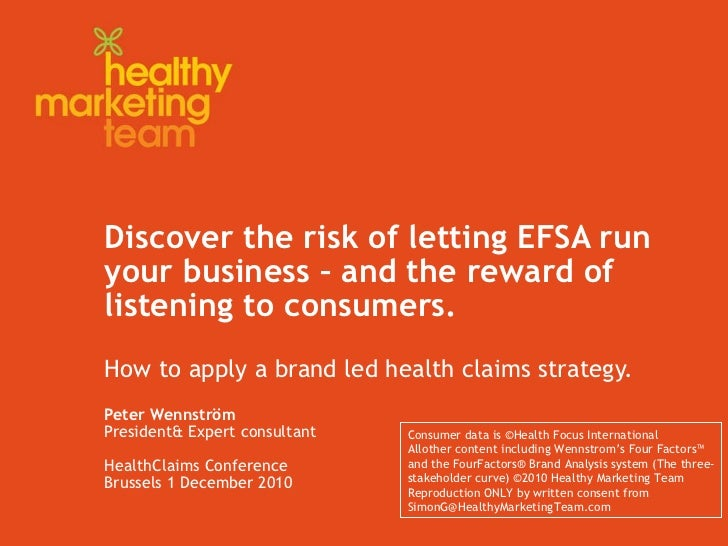 Hmt Health Claims Brussels 1 December Pw