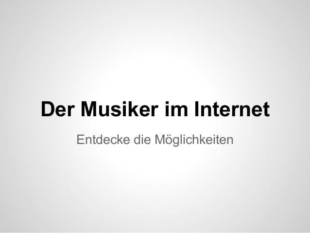 Der Musiker im Internet - Tuttisolo Präsentation von Carlo Queitsch in der HMT - Leipzig