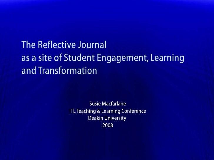 ptlls reflective journal