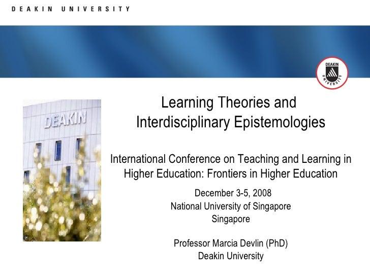 "Professor Marcia Devlin: ""Learning Theories and Interdisciplinary Epistemologies"""