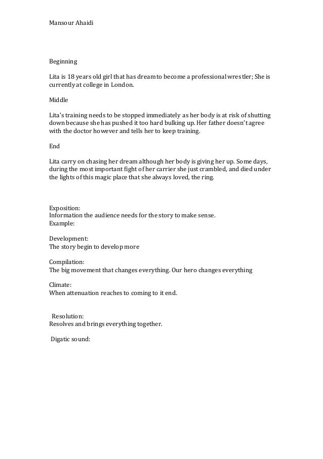 Creative script writing
