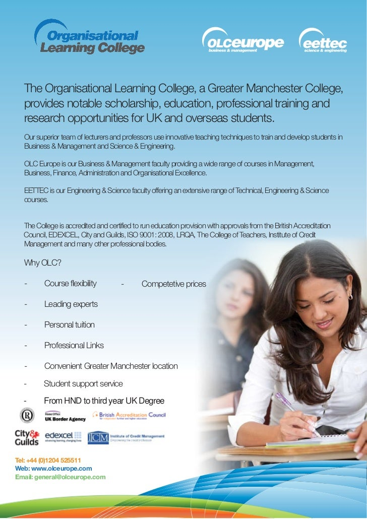 The Organisational Learning College, a Greater Manchester College,  provides notable scholarship, education, professional ...