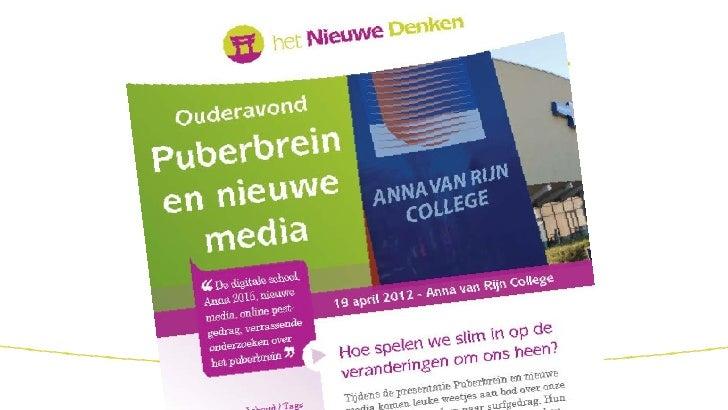 Ouderavond Puberbrein en nieuwe media
