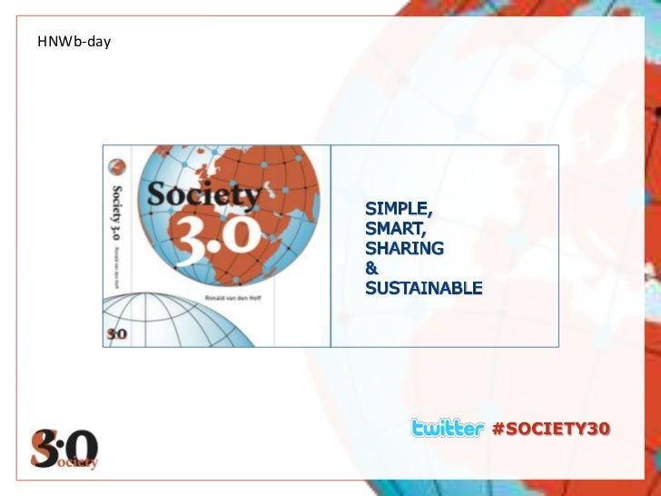 HNWb-day<br />SIMPLE,<br />SMART, <br />SHARING<br />& <br />SUSTAINABLE<br />#SOCIETY30<br />