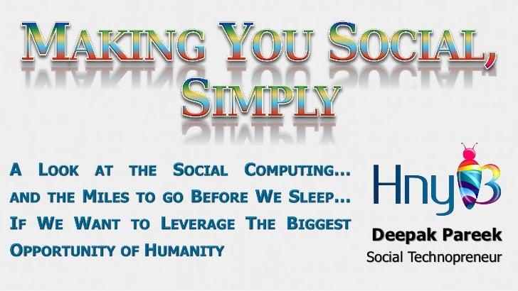 Deepak PareekSocial Technopreneur