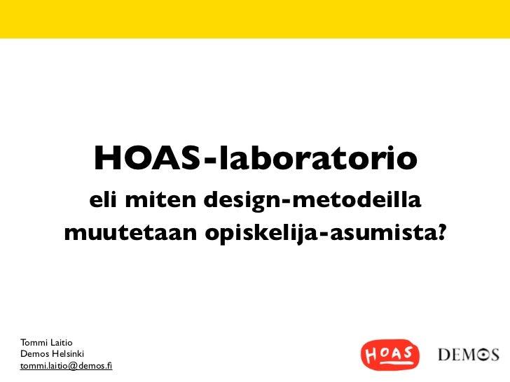 Hoas laboratorio ja design-ajattelu
