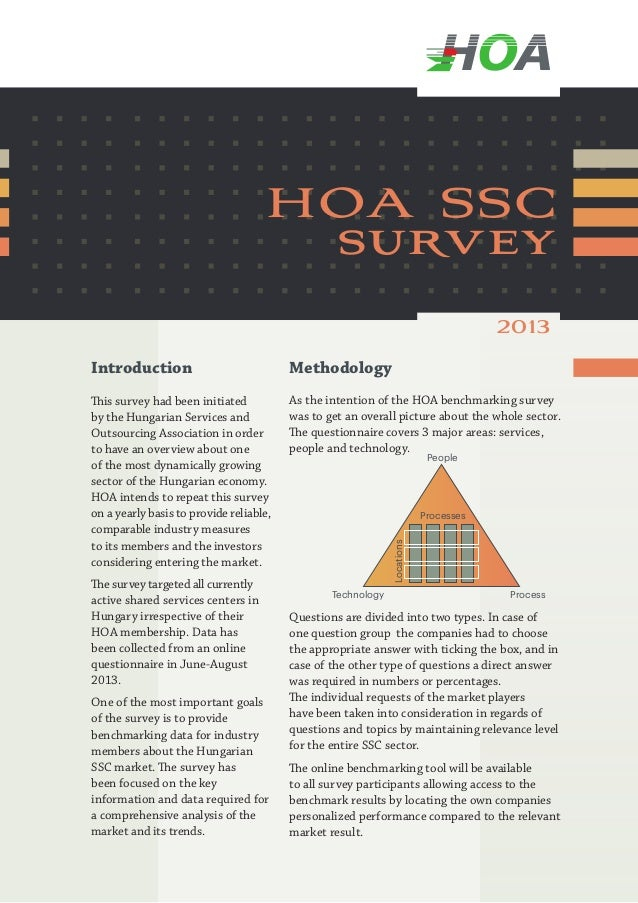 hoa ssc survey 2013 Introduction  Methodology  This survey had been initiated by the Hungarian Services and Outsourcing As...