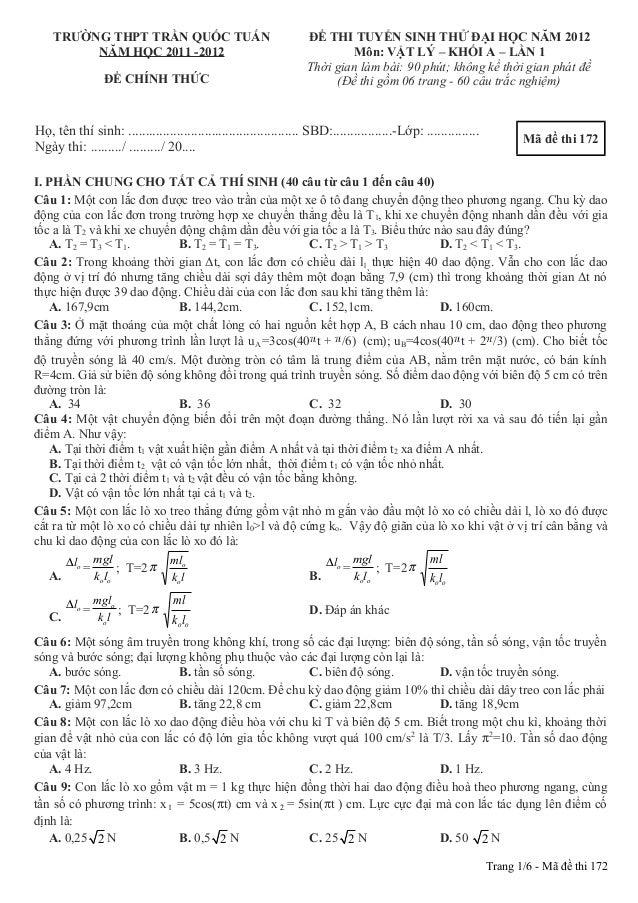 [Hoa]thpt tran quoc tuan, lan1, 2012 (a1k37pbc.net)