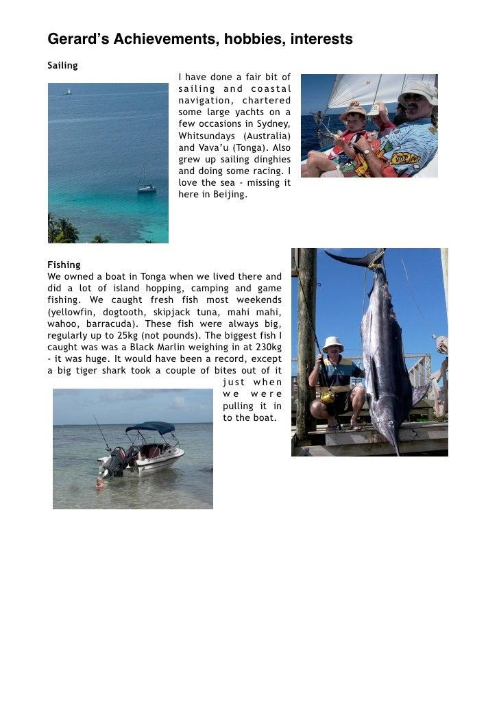 Hobbies & Achievements