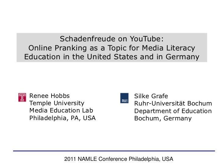 Hobbs and Grafe Schadenfreude and Online Pranking Videos