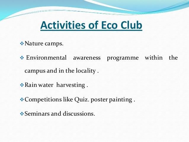 School Clubs And Activities Activities of Eco Clubnature