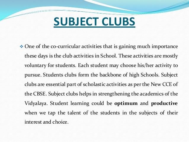 School Clubs And Activities Club Activities in School