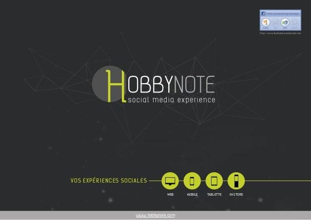1HOBBYNOTE - Euratechnologies, 165 avenue de Bretagne, 59000 LILLE - 03 62 52 94 29 - contact@hobbynote.com www.hobbynote....
