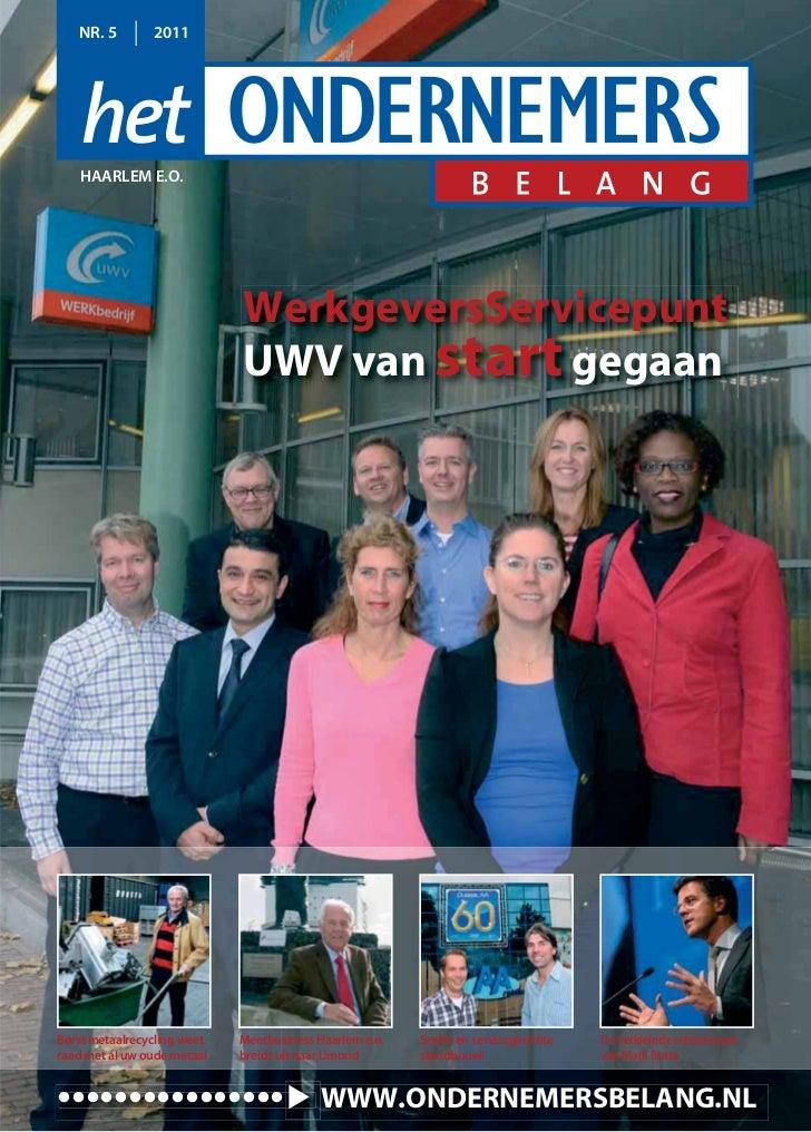 NR. 5        2011   HAARLEM E.O.                             WerkgeversServicepunt                             UWV van sta...