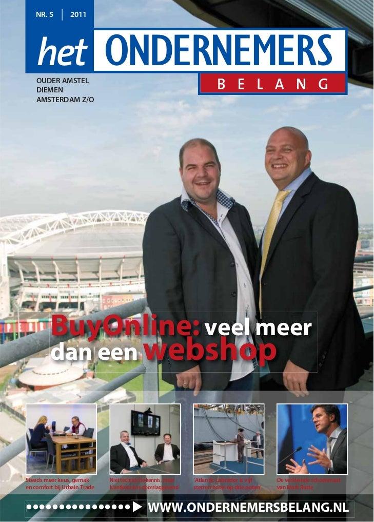 Magazine Het Ondernemersbelang Ouder Amstel Diemen Amsterdam Z/O 05 2011