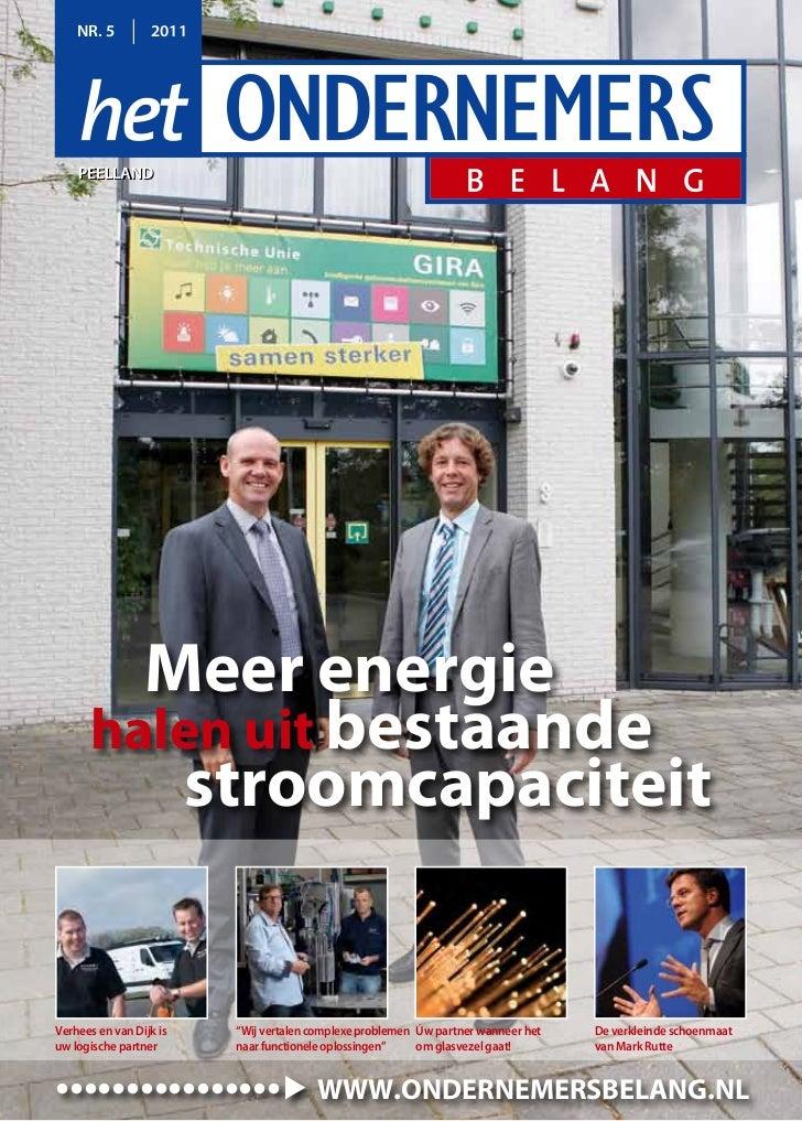 NR. 5         2011    peellaNd    peellaNd        Meer energie      halen uit bestaande         stroomcapaciteitVerhees en...