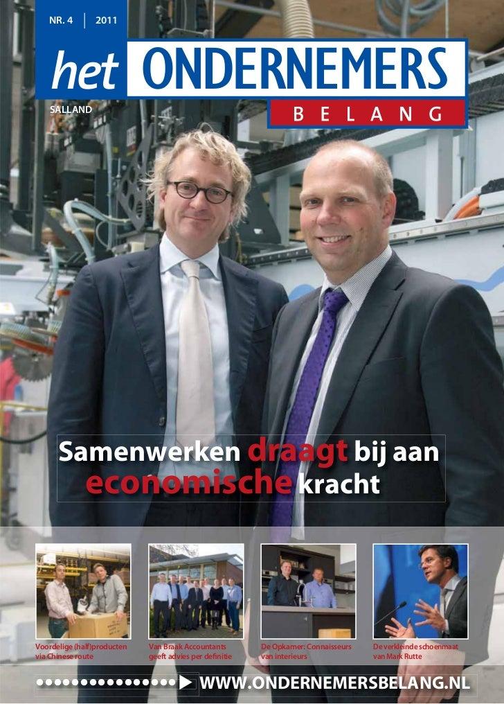 NR. 4        2011    SALLAND      Samenwerken draagt bij aan        economische krachtVoordelige (half)producten   Van Bra...