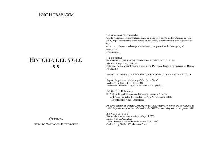 Eric Hobsbawn Historia-del-siglo-xx