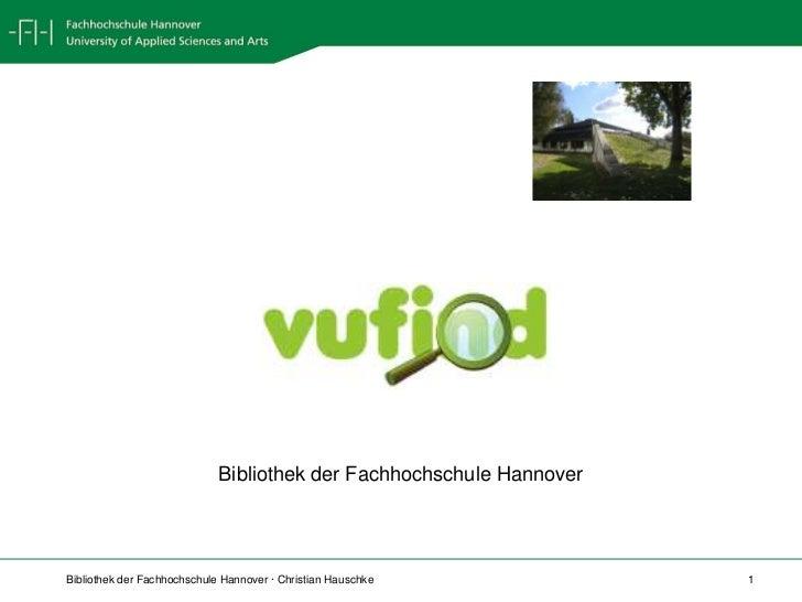 VuFind<br />Bibliothek der Fachhochschule Hannover<br />