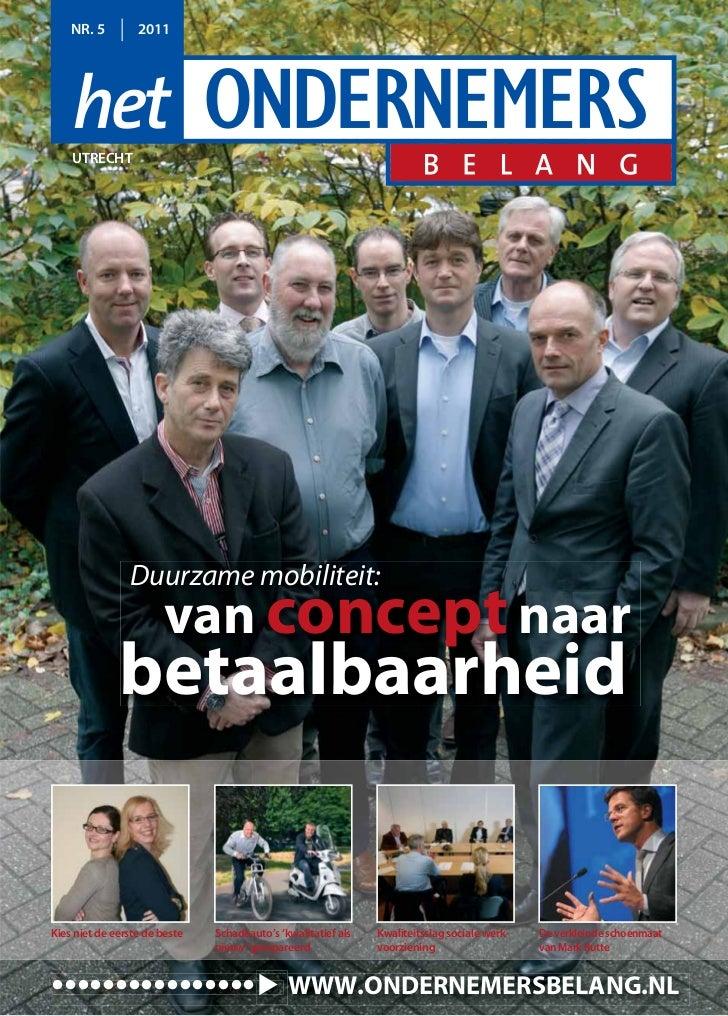 NR. 5         2011    UTRECHT                Duurzame mobiliteit:                       van concept naar              beta...