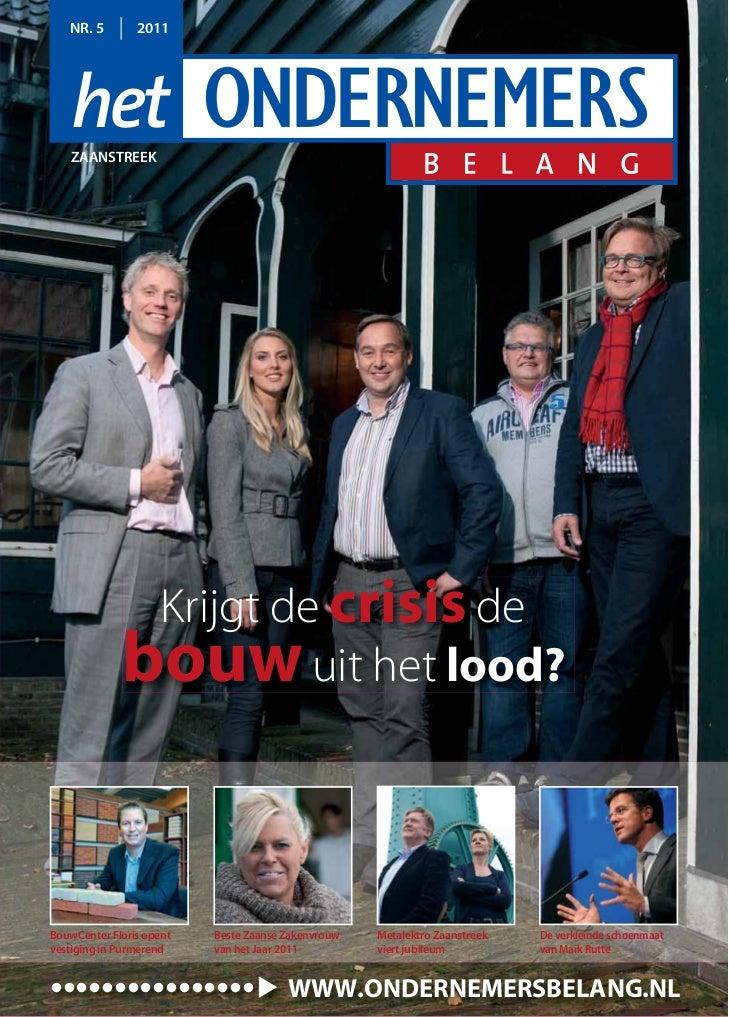 Magazine Het Ondernemersbelang Zaanstreek 05 2011