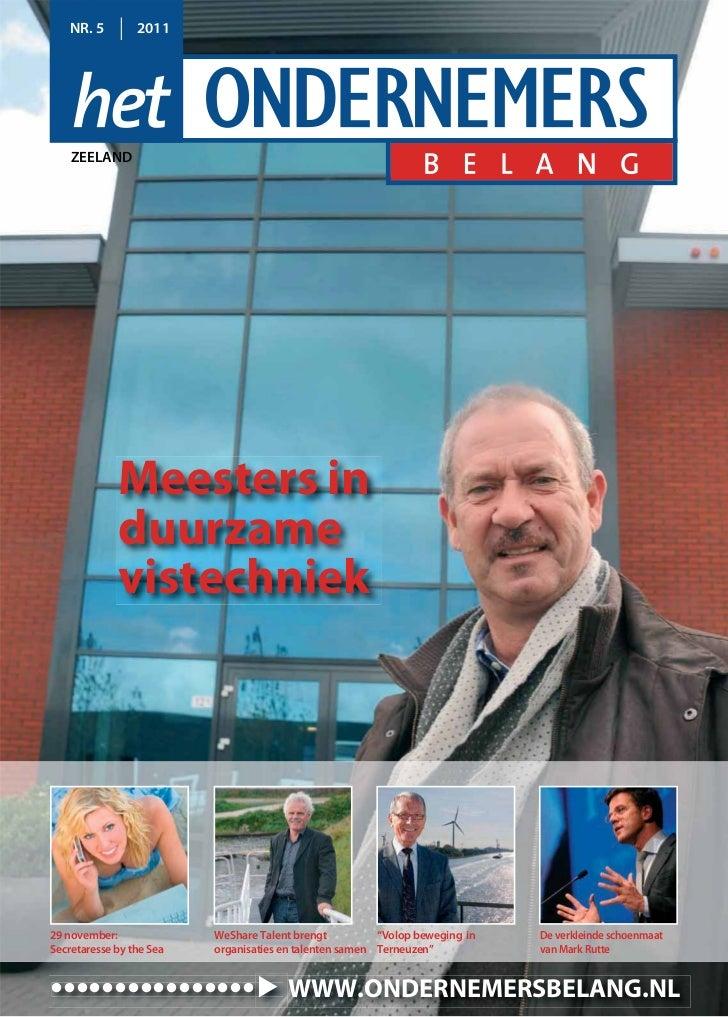Magazine Het Ondernemersbelang Zeeland 05 2011