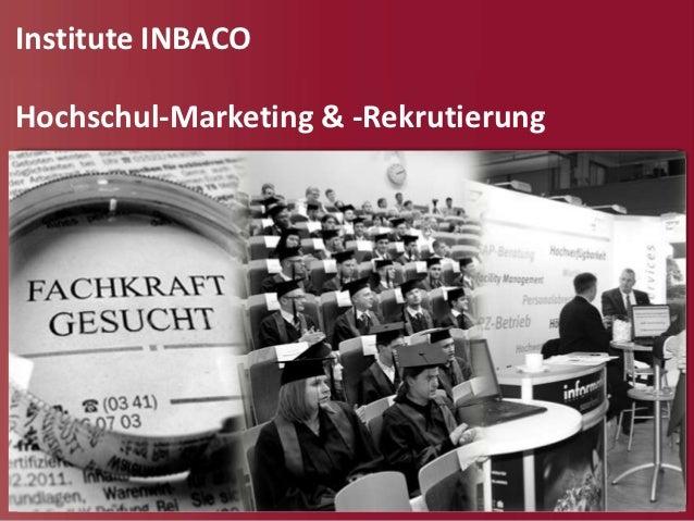 Institute INBACOHochschul-Marketing & -Rekrutierung