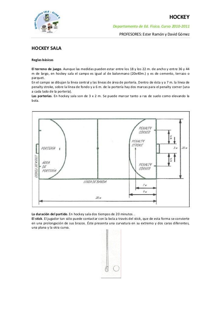 HOCKEY                                                        Departamento de Ed. Física. Curso 2010-2011                 ...