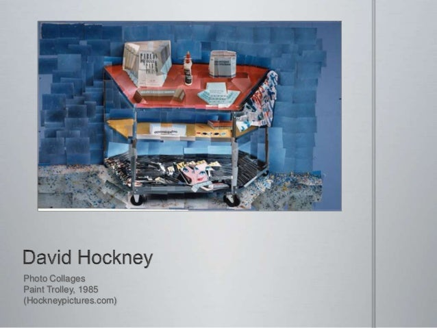 Photo Collages Paint Trolley, 1985 (Hockneypictures.com)