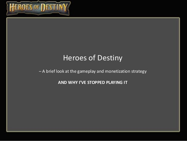 Heroes of Destiny - Why I stopped playing it
