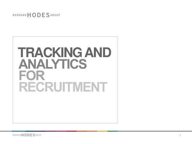 Tracking and Analytics for Recruitment - A measurement framework