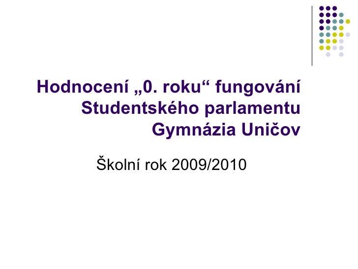 Hodnocení fungování parlamentu rok 09/10